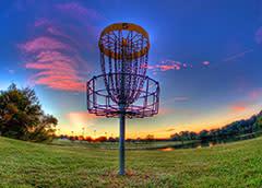 Disc golf sunset