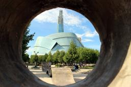 The Forks and Canadian Museum for Human Rights with with Max Muench (@muenchmax)