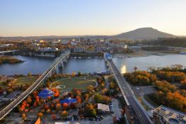 Fall Aerial of Chattanooga