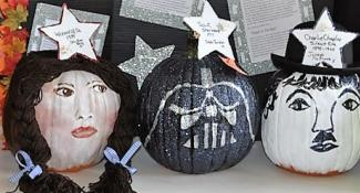 Harvest Homecoming pumpkins decorated
