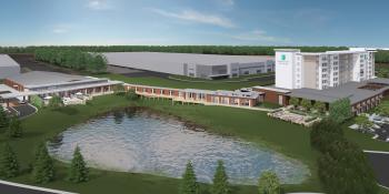Rendering of the Embassy Suites Hotel & Conference Center