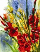 "Thurston's Garden By Linda M. Kollar, Watercolor on Illustration Board, 8"" x 10"""