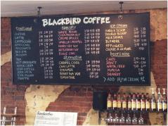 blackbird coffee menu