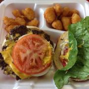 AJ's Cheesesteak burger
