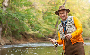 Fly Fisherman in Cumberland Valley PA