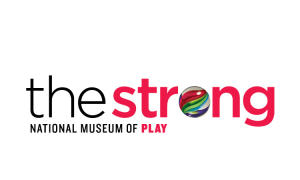 Strong National Museum of Play logo - marble