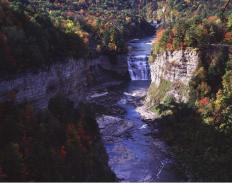 One of three waterfalls at Letchworth State Park