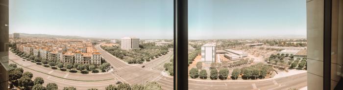 Marriott Irvine Spectrum Corner Suite Panoramic View