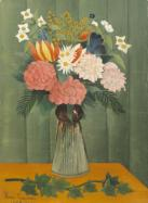 Henri Rousseau (French, 1844–1910). Flowers in a Vase, 1909. Oil on canvas, 17 7/8 x 12 7/8 inches (45.4 x 32.7 cm). Collection Albright-Knox Art Gallery. Room of Contemporary Art Fund, 1939.