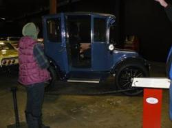 An early electric car.
