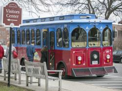 Patriots Day Trolley in Lexington