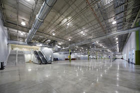 Interior photo of Cruise Terminal 26 baggage lay-down area