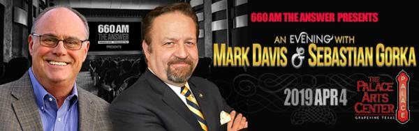 mark davis and sebastian gorka PAC live event