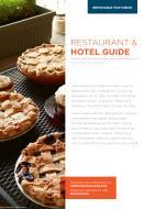 2018 Restaurant & Hotel Guide