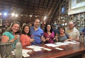 Huber's wine tasting loft