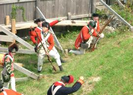 Hundreds of re-enactors are scheduled to present tactical weapons demonstrations on Saturday and Sunday, Aug. 14-15, during the National Encampment of the Brigade of the American Revolution at Fort Ontario in Oswego.