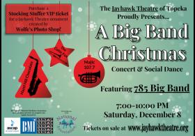 A Big Band Christmas at Topeka's Jayhawk Theatre.