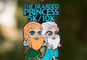 THE BEARDED PRINCESS 5K & 10K: EZRA AND ANSON (OPPOSITE OF ELSA AND ANNA)!