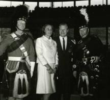The Governor and Mrs. Rockefeller at SPAC's dedication, June 16, 1966