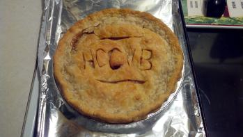 My editor made me bake this apple pie back in 2012 when Visit Hendricks County was still called the Hendricks County Convention & Visitors Bureau.