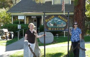 Our Hometown Tourists visit Folsom Prison Museum.  Photo by Cindy Gibbs.