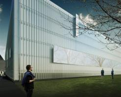 The Corning Museum of Glass today unveiled the preliminary design for an expansion that will create a new North Wing, featuring light-filled galleries for its collection of contemporary works in glass, as well as one of the world's largest facilities for glassblowing demonstrations and live glass design sessions.