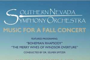 Music For A Fall Concert - Southern Nevada Symphony Orchestra - Cover Photo