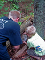 Kids geocaching