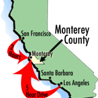 Monterey County CA Map