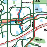 Map of bike trails in Irvine, CA