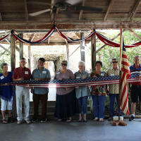 Conservation Plaza ribbon cutting