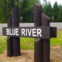 Blue River Oregon Sign