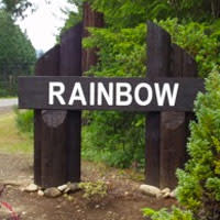 Rainbow Oregon Sign