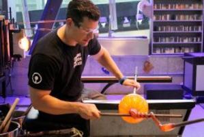Hot Glass Demo Pumpkin