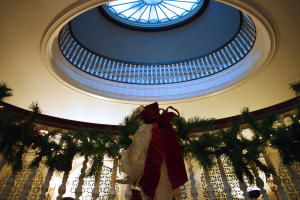 Eastman Museum decorated for the holiday season
