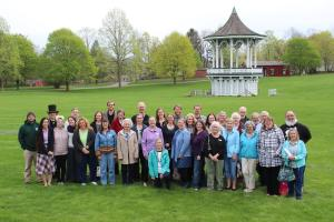 Large group gathers at the Genesee Country Village & Museum in Mumford,NY