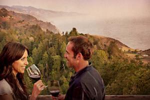 Wine tasting overlooking the coast