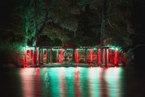 The Swan Lake pergola at Enchanted Airlie