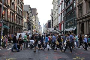 Soho Crowd Photo by Joe Buglewicz