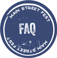 Main Street Fest side nav FAQ button