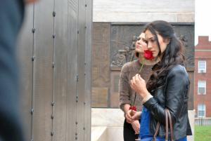 Mercy Street Actresses at Freedmen Cemetery