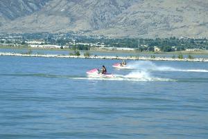 Boating Utah Lake