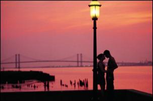Couple at Night Delaware Memorial Bridge Kevin Flemming