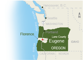 Eugene Cascades Coast Map