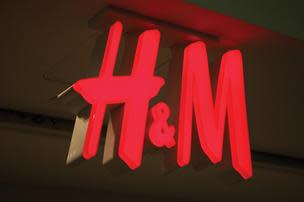 H&M Logo at Shopping Center in Houston Texas