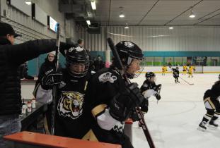 Hockey in the Kinsmen Arena
