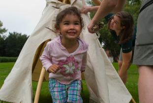 Mini tipi program at The Forks National Historic Site