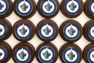 Chocolate Hockey Pucks