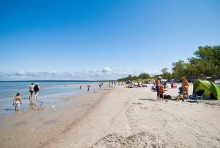 Pristine sand of Grand Beach
