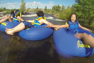 Tubing down the Pinawa Channel